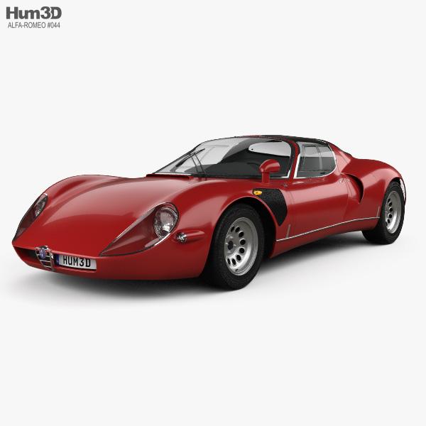 Alfa Romeo Models >> Alfa Romeo 33 Stradale 1967 3d Model