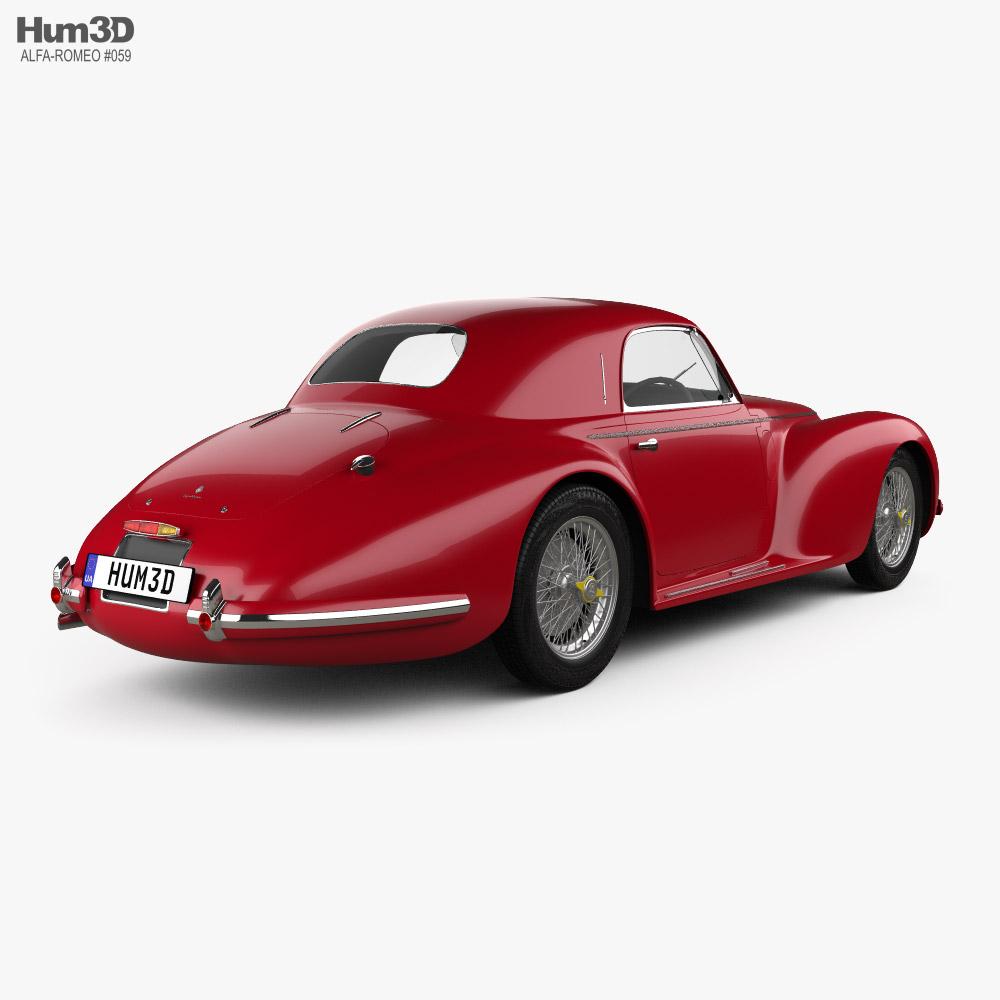 Alfa Romeo 6c 2500 Corsa Touring coupe 1939 3d model