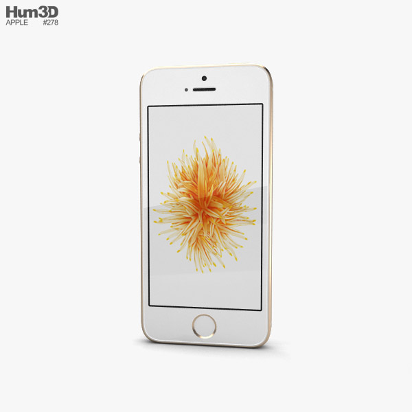 iphone se gold apple iphone se 2 gold 3d model hum3d 2605
