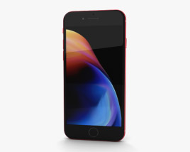 Apple iPhone 8 Red 3D model