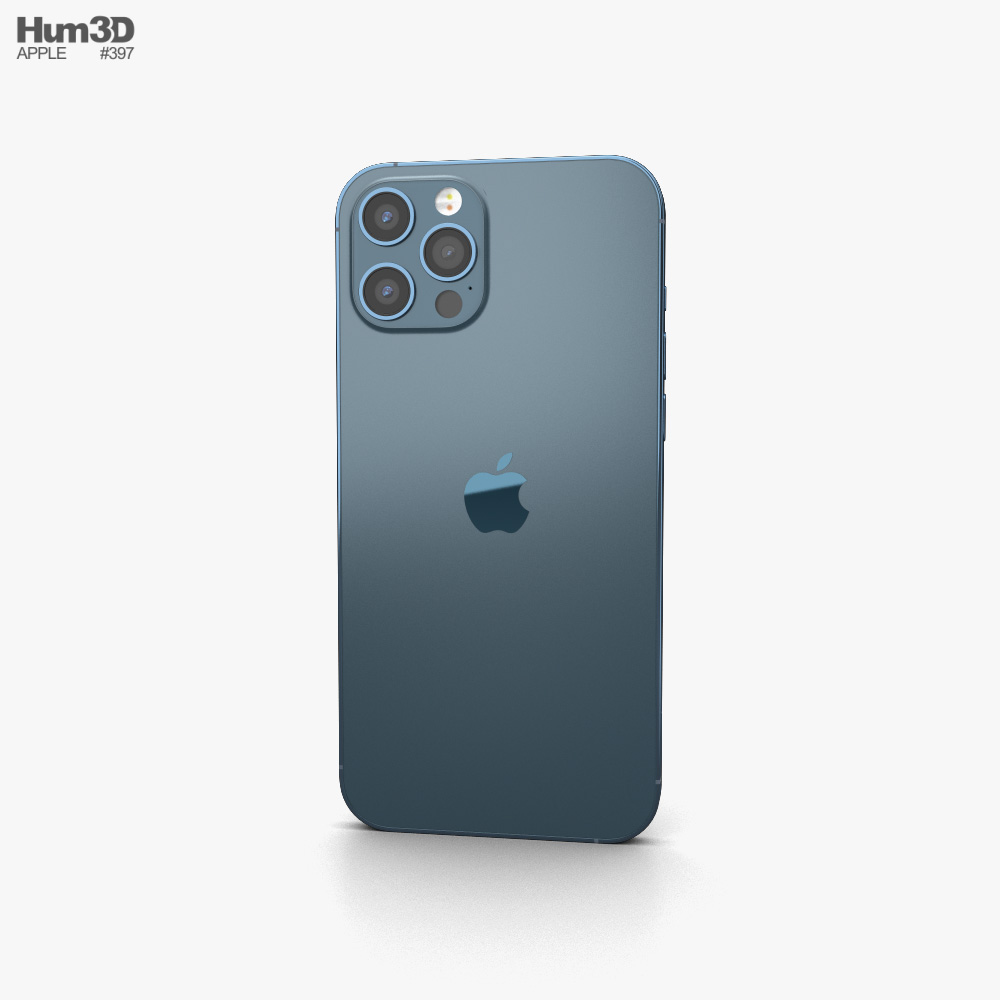 Apple iPhone 12 Pro Max Blue 3d model