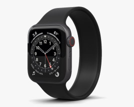 Apple Watch Series 6 44mm Aluminum Space Gray 3D model