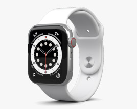 Apple Watch Series 6 44mm Stainless Steel Silver 3D model