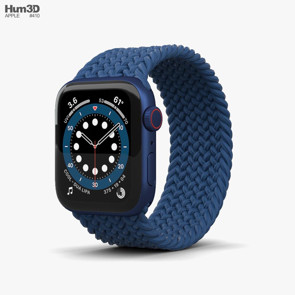Apple Watch Series 6 40mm Aluminum Blue 3d model