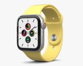 Apple Watch SE 44mm Aluminum Silver 3D model