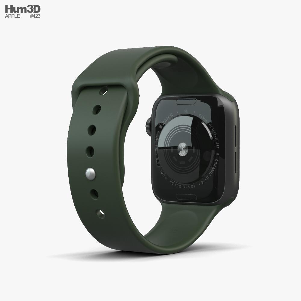 Apple Watch SE 44mm Aluminum Space Gray 3d model