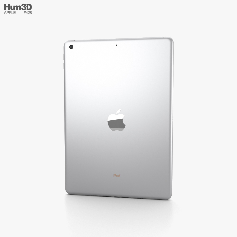 Apple iPad 10.2 2020 Silver 3d model
