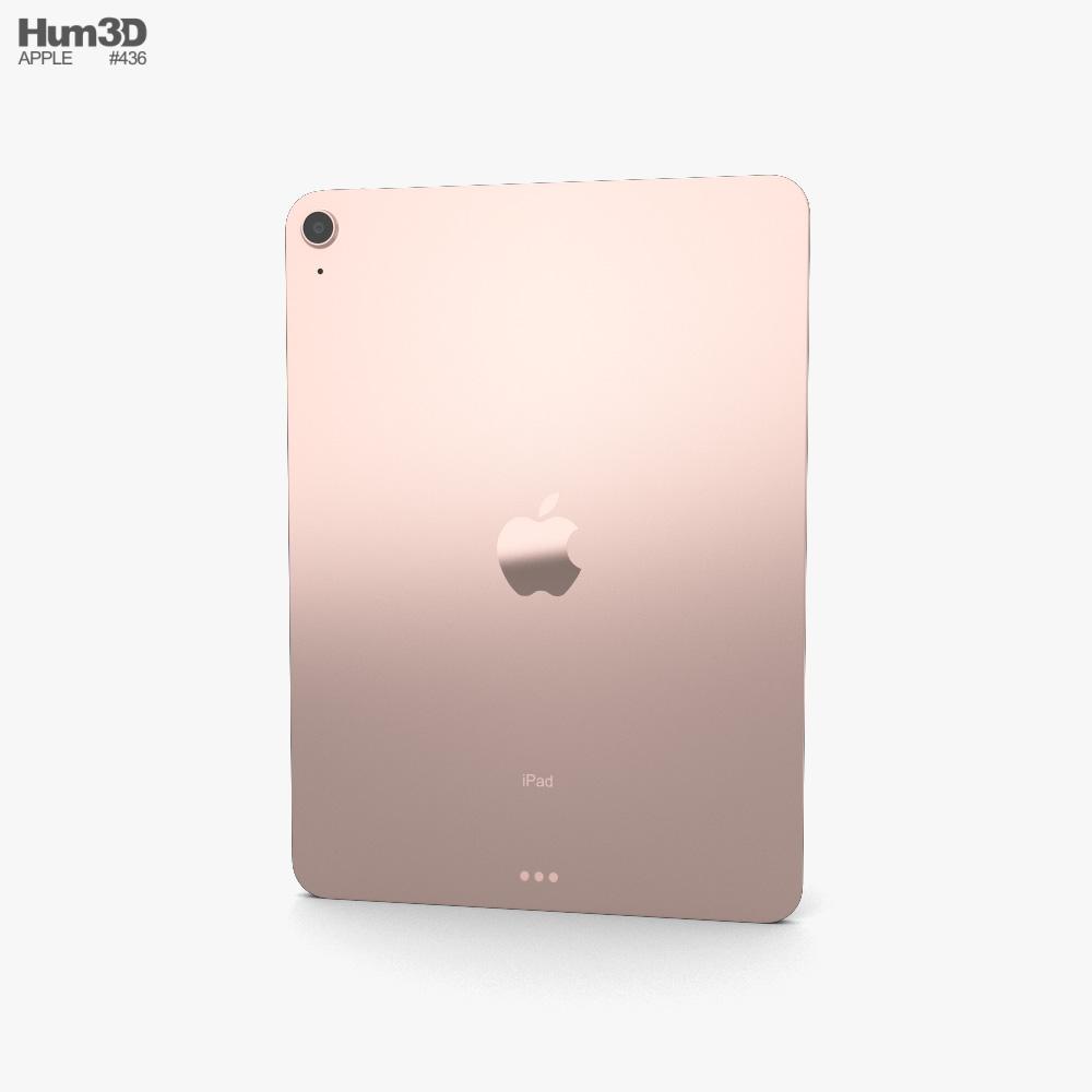 Apple iPad Air 2020 Rose Gold 3d model