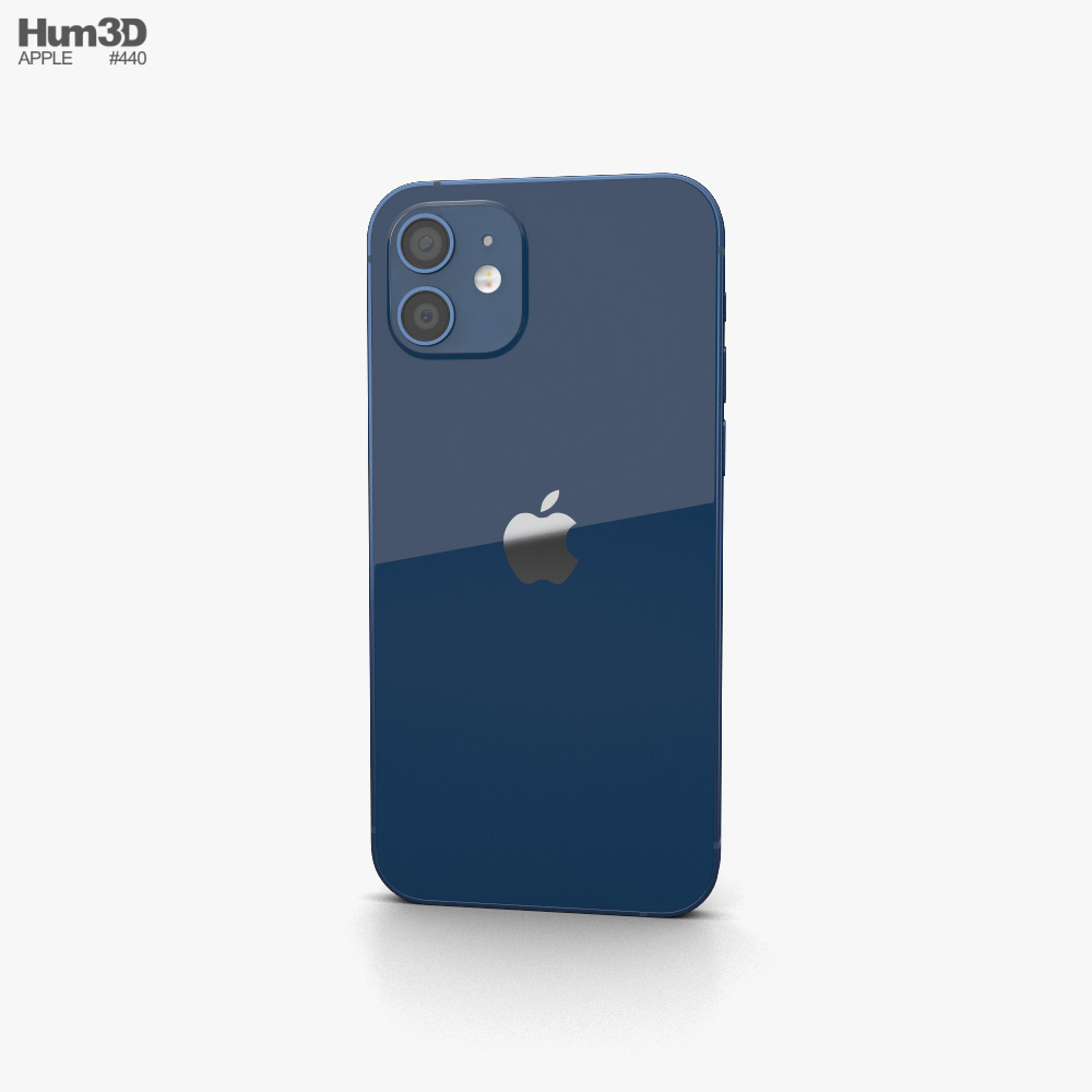 Apple iPhone 12 Blue 3d model
