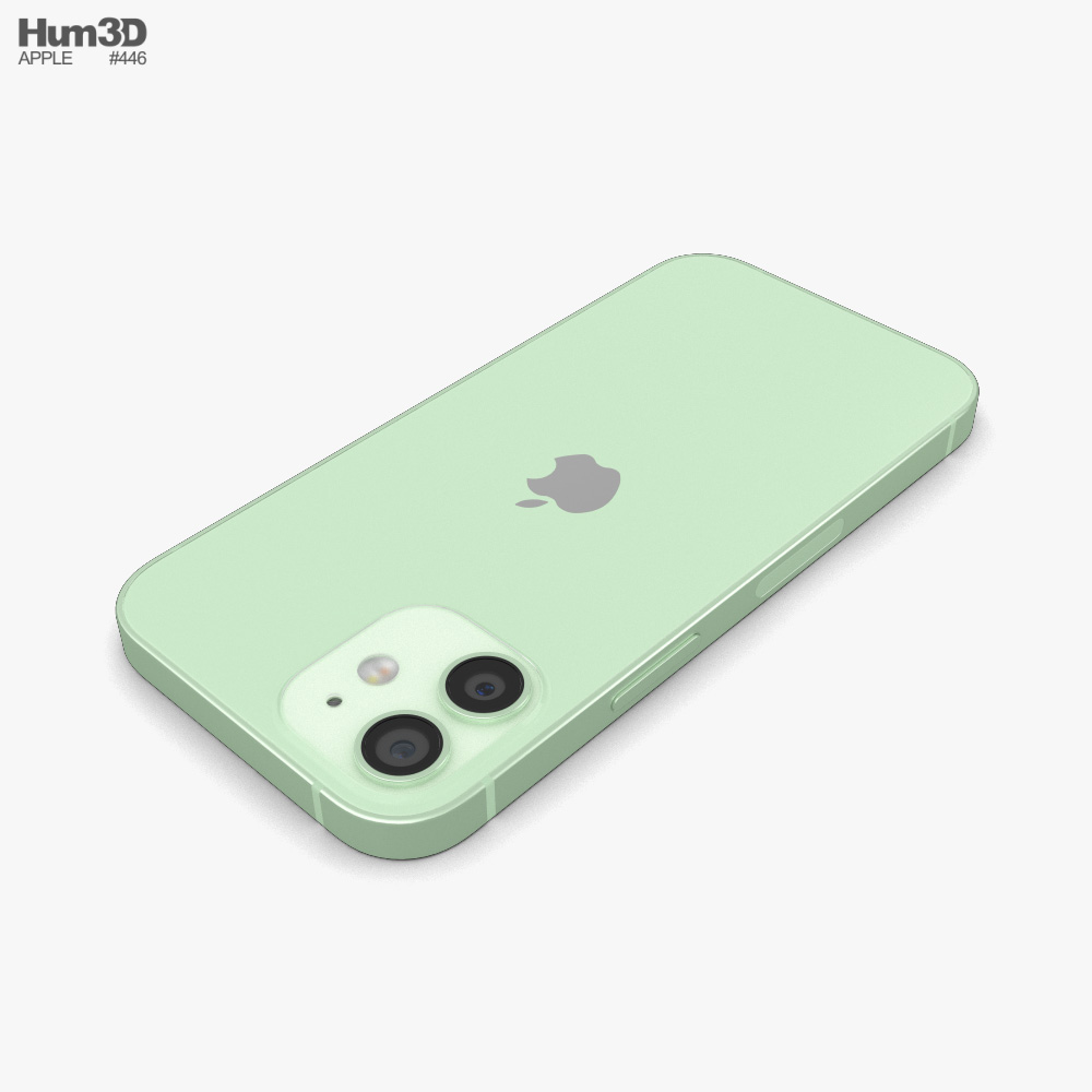 Apple iPhone 12 mini Green 3D model - Electronics on Hum3D