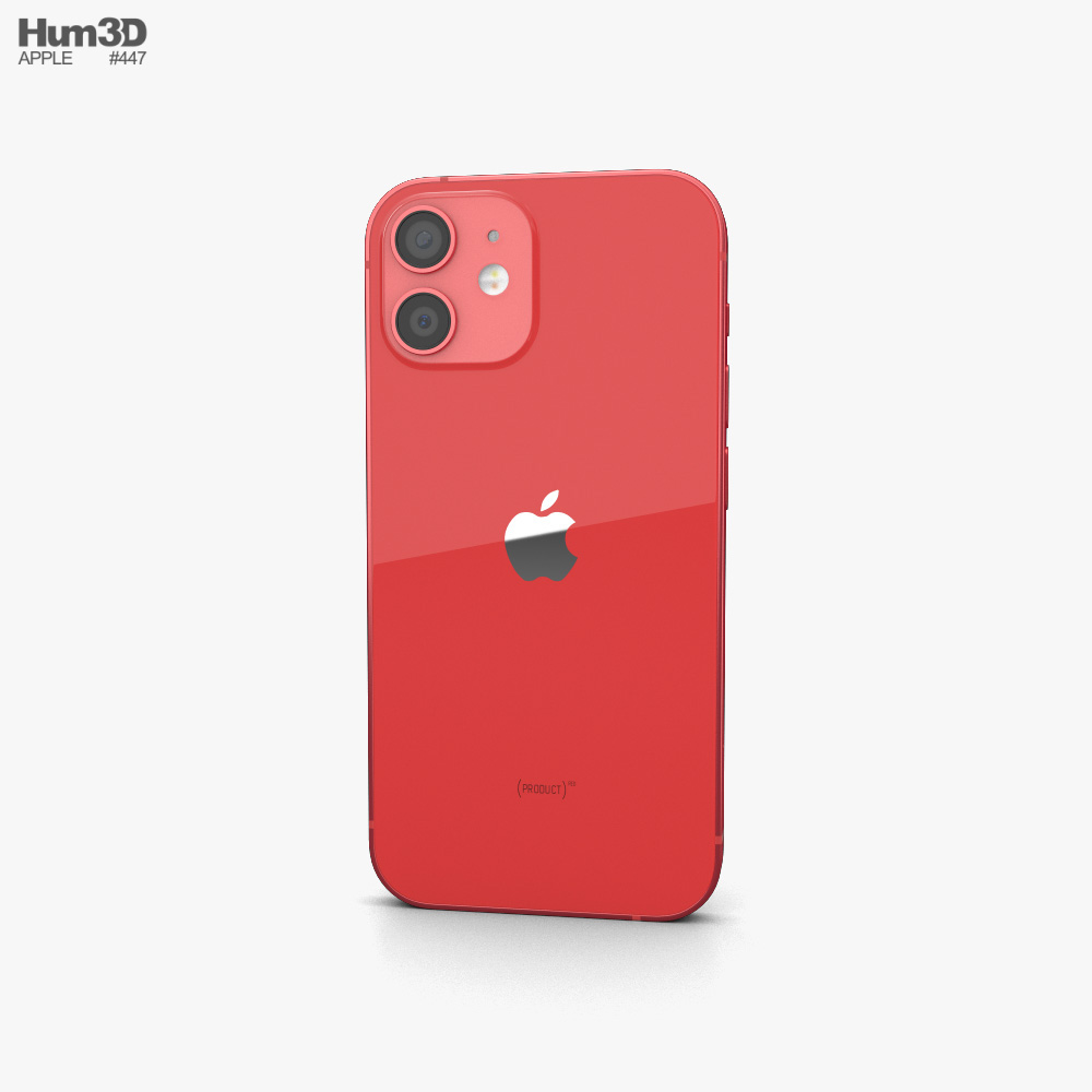 Apple iPhone 12 mini Red 3d model
