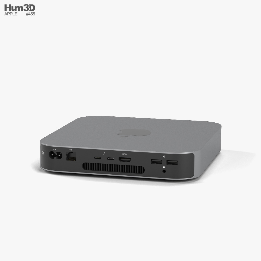 Apple Mac mini 2020 M1 Silver 3d model