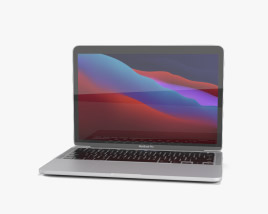 Apple MacBook Pro 13-inch 2020 M1 Silver 3D model