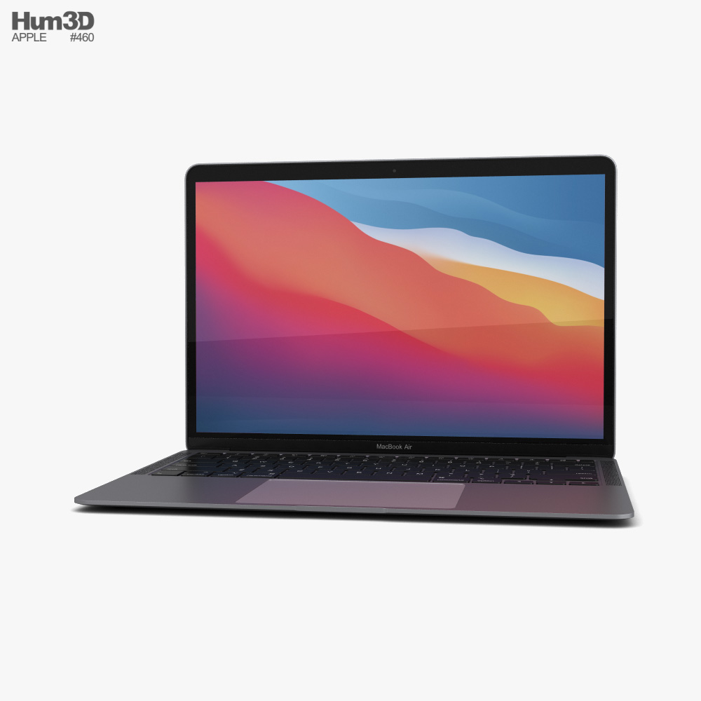 Apple MacBook Air 2020 M1 Space Gray 3d model