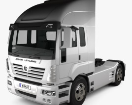 Ashok Leyland Newgen Tractor Truck 2015 3D model