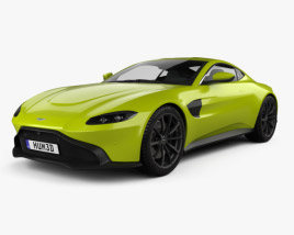 Aston Martin Vantage coupe 2018 3D model