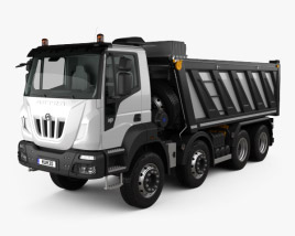 Astra HD9 (84-52) Dump Truck 4-axle with HQ interior 2012 3D model