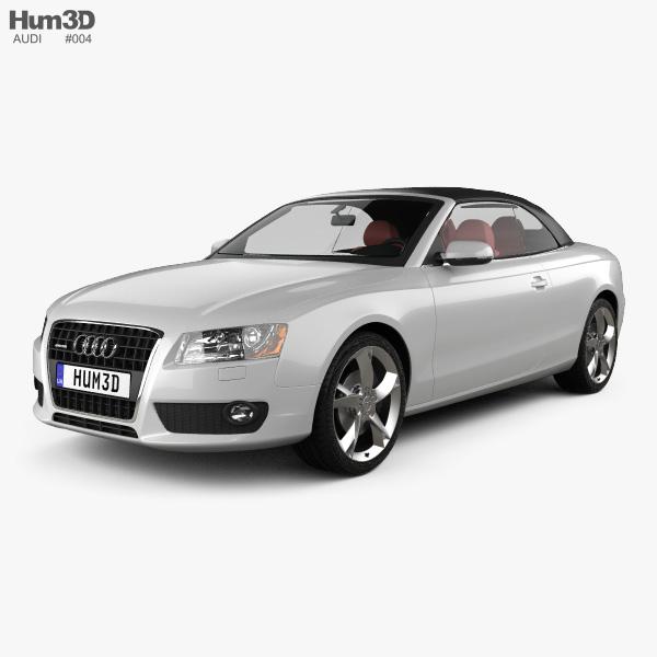 Audi Convertibles 2018: Audi A5 Convertible 2010 3D Model