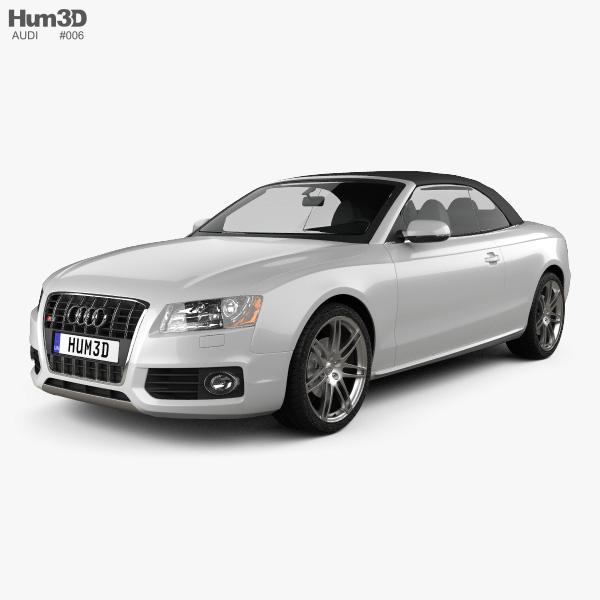 Audi S5 Convertible 2010 3D Model