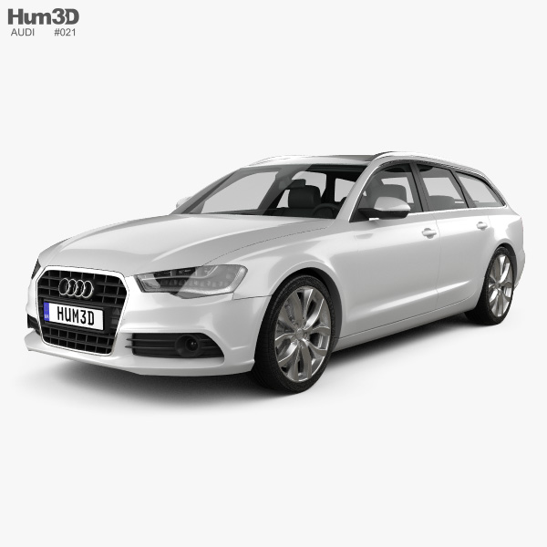 Audi A6 Avant 2012 3d Model Hum3d