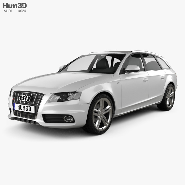 audi s4 avant 2011 3d model hum3d. Black Bedroom Furniture Sets. Home Design Ideas