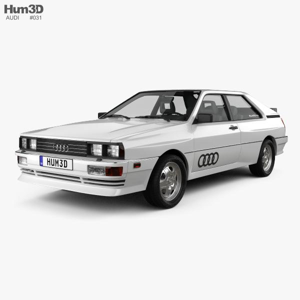 audi quattro 1980 3d model vehicles on hum3d. Black Bedroom Furniture Sets. Home Design Ideas