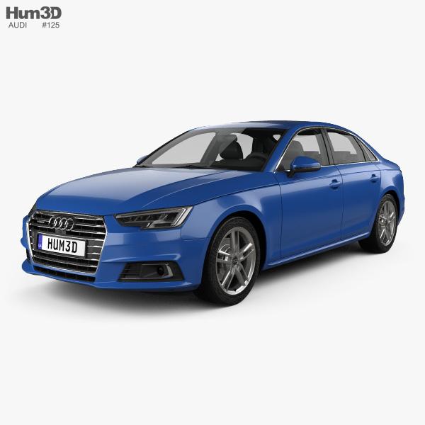 Audi A4 (B9) Sedan 2016 3D Model