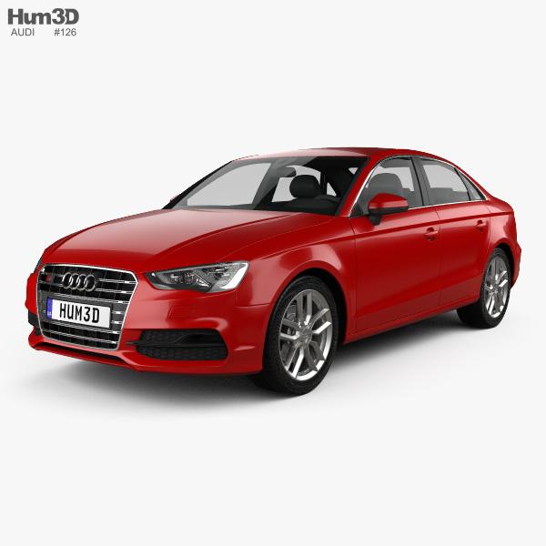 audi s3 sedan 2013 3d model vehicles on hum3d. Black Bedroom Furniture Sets. Home Design Ideas