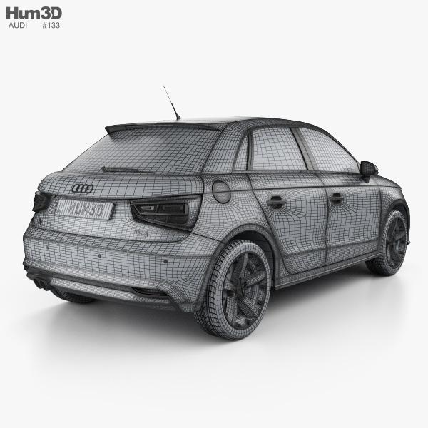 Audi A1 Sportback 2015 3d Model Hum3d