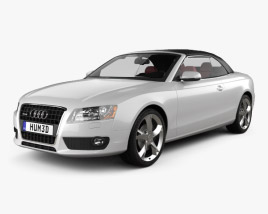 Audi A5 Cabriolet with HQ interior 2009 3D model