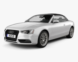 Audi A5 Cabriolet with HQ interior 2012 3D model