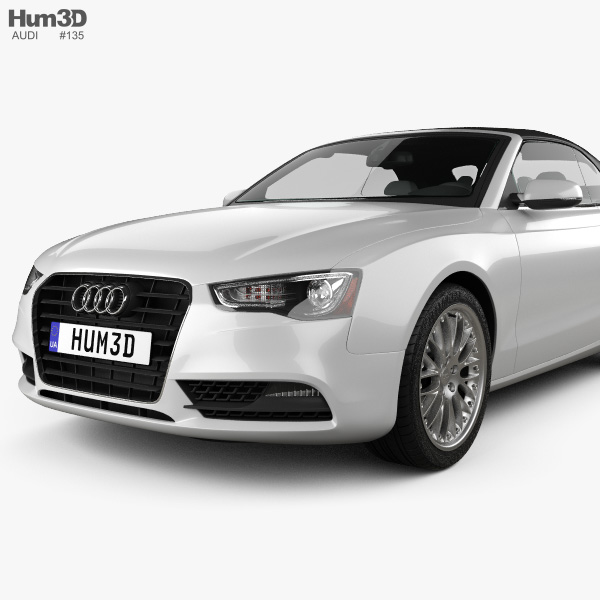 Audi A5 Cabriolet With Hq Interior 2012 3d Model Hum3d