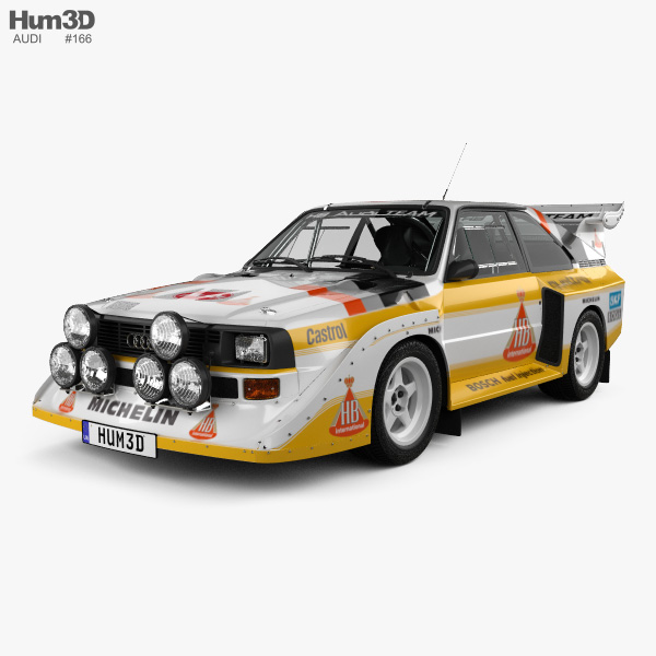Audi Quattro Sport S1 E2 1985 3d Model Hum3d