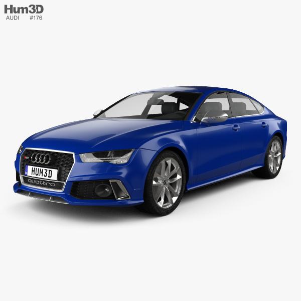 Audi Rs7 4g Sportback Performance 2015 3d Model Hum3d