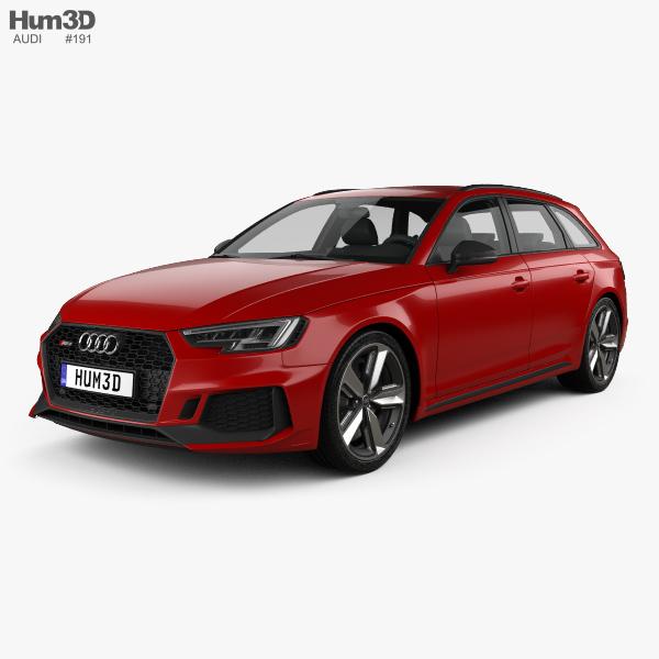 Audi Convertibles 2018: Audi RS4 Avant 2018 3D Model
