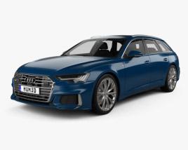 Audi A6 S-Line avant with HQ interior 2018 3D model