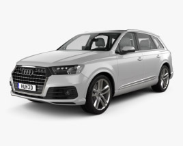 Audi Q7 S-line with HQ interior 2016 3D model
