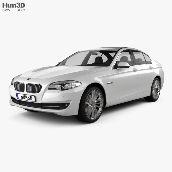 bmw 5 series sedan 2011 3d model hum3d. Black Bedroom Furniture Sets. Home Design Ideas