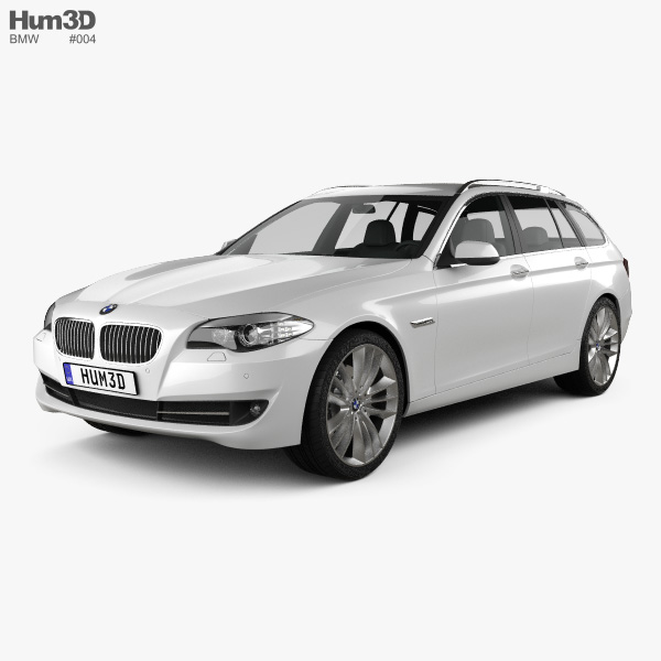 bmw 5 series touring 2011 3d model hum3d. Black Bedroom Furniture Sets. Home Design Ideas