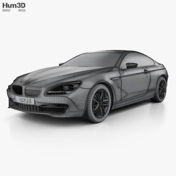BMW 6 Series Coupe Concept 2010 3D model - Hum3D