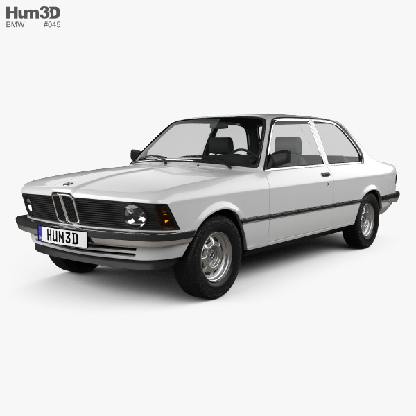 BMW 3 Series coupe (E21) 1975 3D model - Hum3D