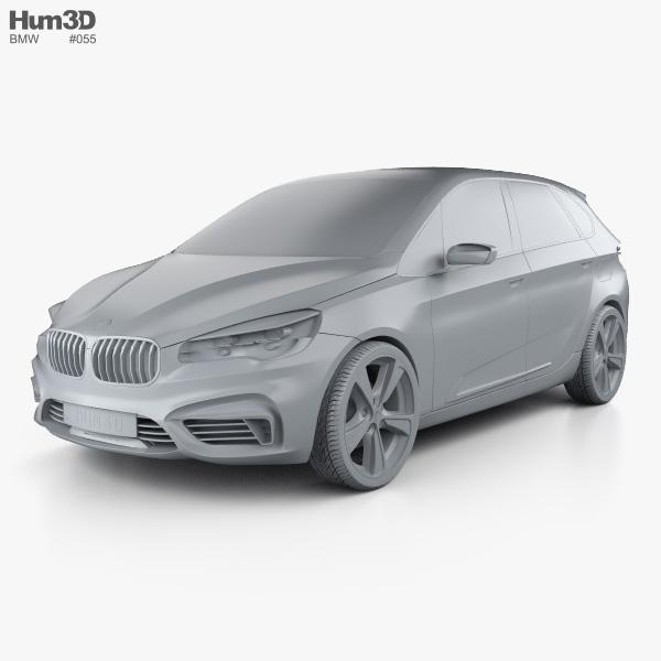 BMW Active Tourer concept 2012 3D model - Hum3D
