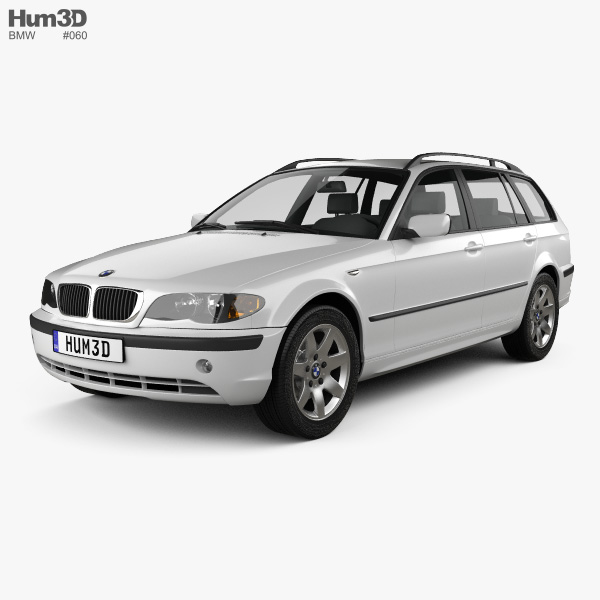bmw 3 series touring e46 2001 3d model hum3d. Black Bedroom Furniture Sets. Home Design Ideas