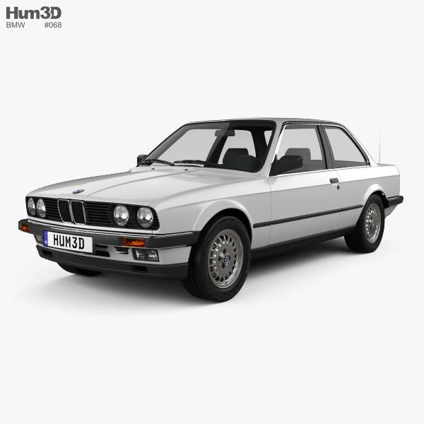 BMW 3 Series Coupe (E30) 1990 3D Model