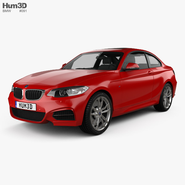 2014 Bmw 335i Coupe: BMW M235i Coupe (F22) 2014 3D Model