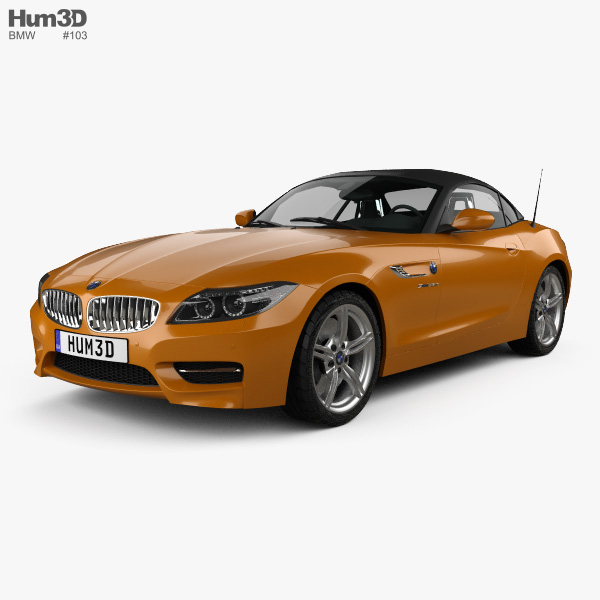 Bmw Z4 Convertible: BMW Z4 (E89) Roadster 2013 3D Model
