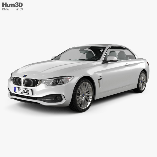 BMW 4 Series (F33) Convertible Luxury Line 2013 3D Model