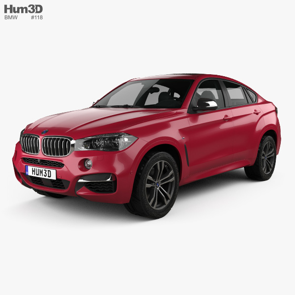 Bmwfort Package Includes: BMW X6 (F16) M Sport Package 2014 3D Model