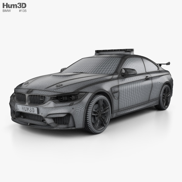 Bmw 4 Series M Coupe Motogp Safety Car 2014 3d Model Hum3d