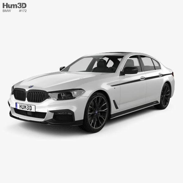 BMW 5 Series (G30) M Performance Parts 2017 3D Model